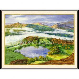 jual lukisan pemandangan inggris B106-1