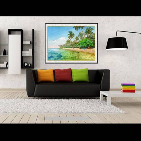 jual lukisan pemandangan pantai tanjung gelam karimun jawa indonesia 2018-1-2