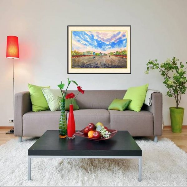 jual lukisan surabaya jembatan merah 5006-1-1
