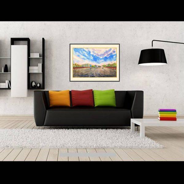 jual lukisan surabaya jembatan merah 5006-1-2