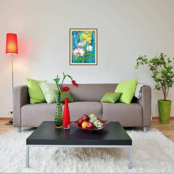 lukisan bunga minimalis 4008-1-1