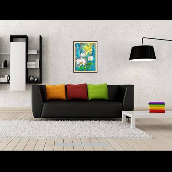 lukisan bunga minimalis 4008-1-2