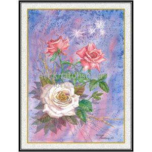 lukisan bunga minimalis 4014-1