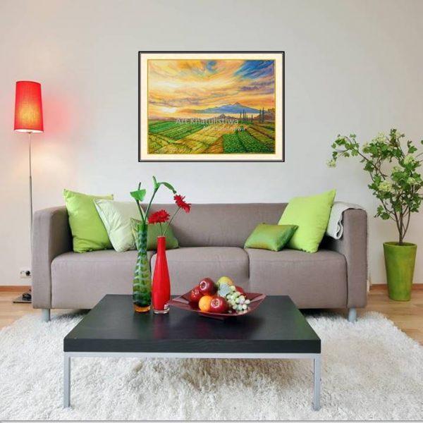 lukisan dijual gunung arjuna indonesia 1014-1-1