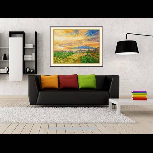 lukisan dijual gunung arjuna indonesia 1014-1-2