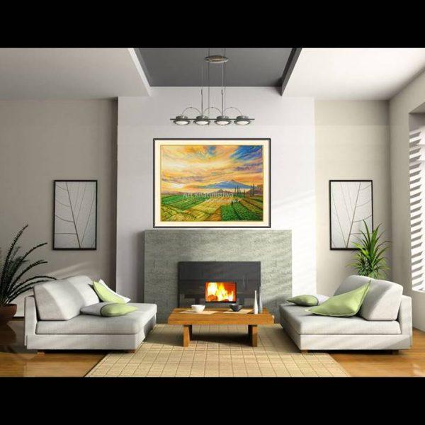 lukisan dijual gunung arjuna indonesia 1014-1-3