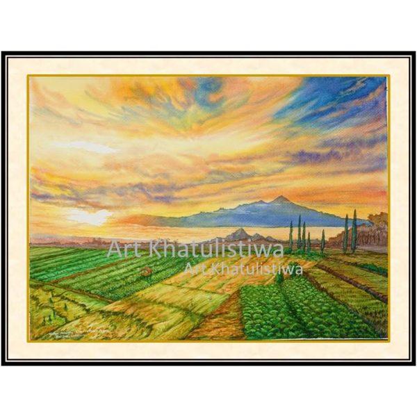 lukisan dijual gunung arjuna indonesia 1014-1
