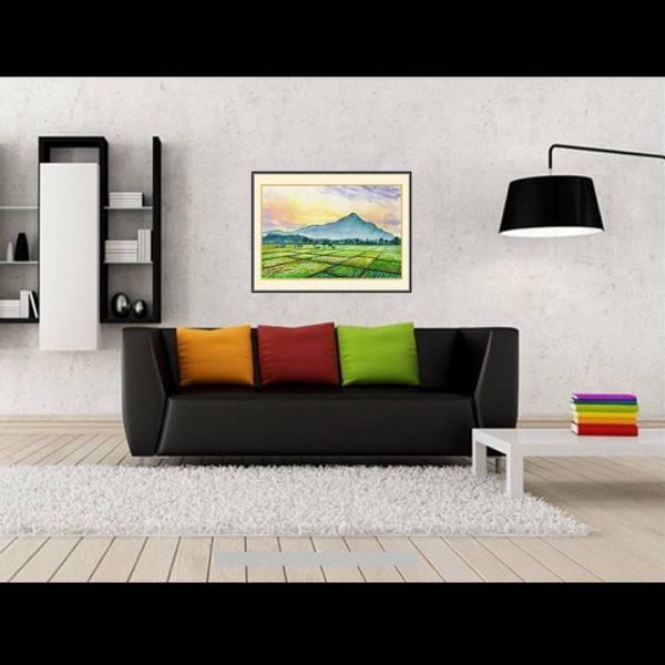 lukisan pemandangan gunung welirang 1009-1-2