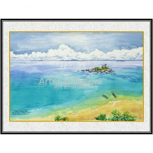 galeri lukisan online pulau lengkuas belitung indonesia B203-1