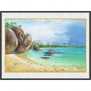 galeri online jual lukisan tanjung tinggi belitung indonesia B207-1