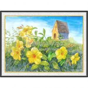 jual lukisan bunga allamanda 4010-1D