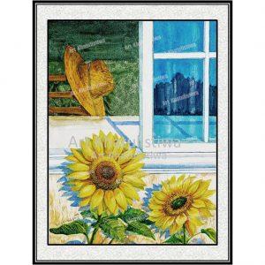jual lukisan bunga matahari 4003-1G