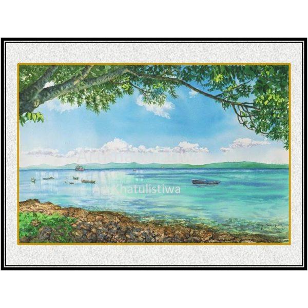 jual lukisan indonesia lukisan kupang NTT B206-1