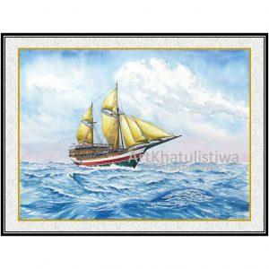 jual lukisan kapal pinisi 6002-1