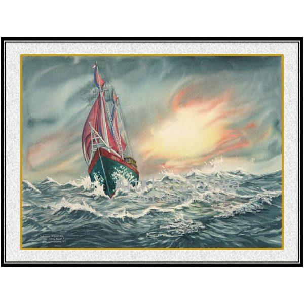 jual lukisan kapal pinisi 6003-1