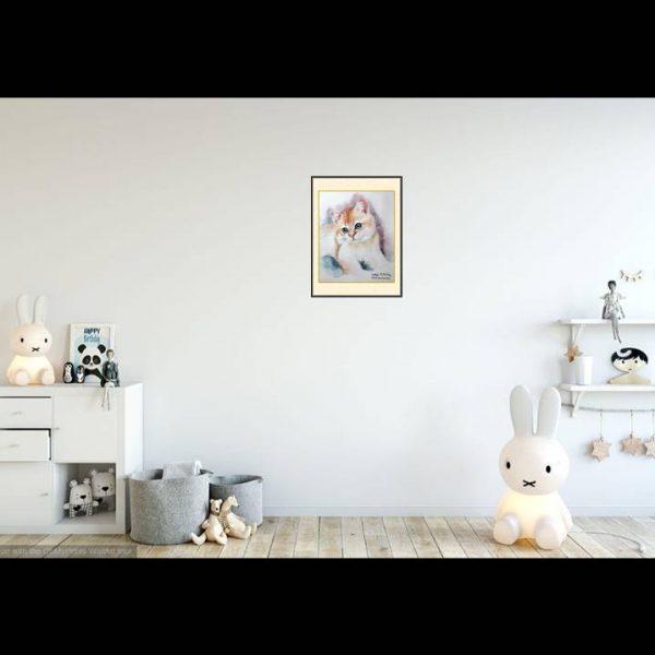 jual lukisan kucing surabaya 7014- 1-1