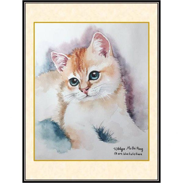 jual lukisan kucing surabaya 7014-1