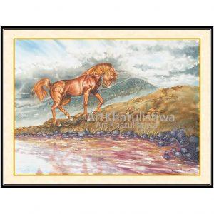 jual lukisan kuda 7003-1