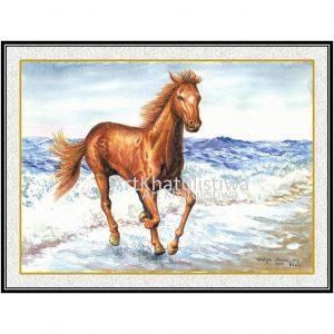 jual lukisan kuda 7007-1