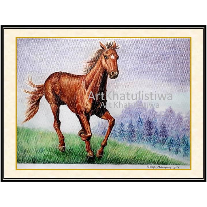 jual lukisan kuda 7007 B