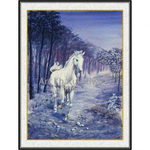 jual lukisan kuda surabaya 7004-1