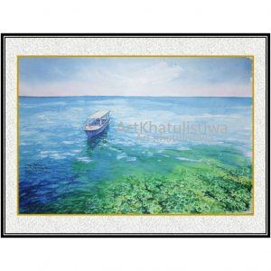 jual lukisan laut kapoposang makasar sulawesi indonesia B204-1