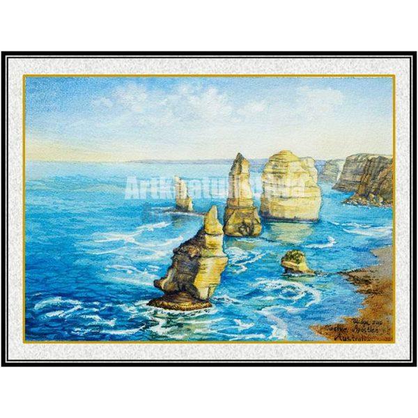 jual lukisan minimalis online twelve apostle australia B209-2