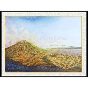 jual lukisan online lukisan gunung bromo indonesia 1013-1
