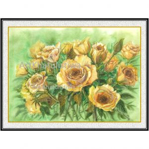 jual lukisan online mawar 4012-1C