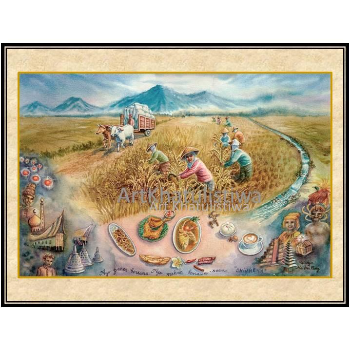 jual lukisan panen 1017-1
