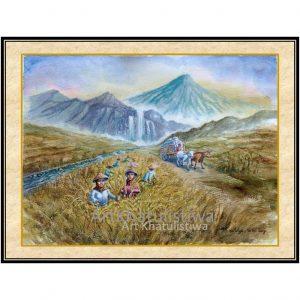 jual lukisan panen 1018-1