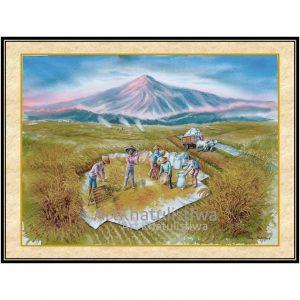 jual lukisan panen 1019-1