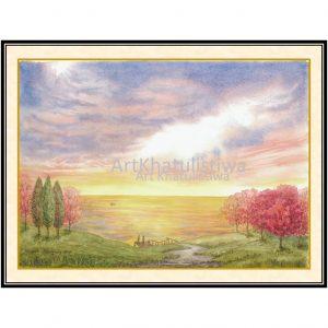 jual lukisan pemandangan 3006-1