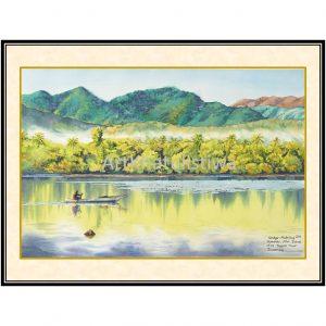 jual lukisan pemandangan alam alor indonesia B103-1