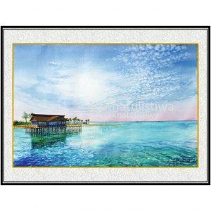 jual lukisan pemandangan alam derawan 2011-1