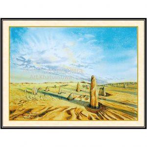 jual lukisan pemandangan australia B105-1