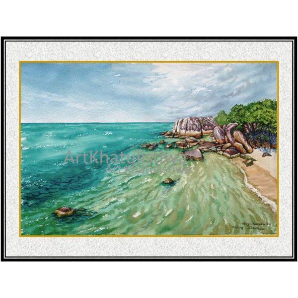 jual lukisan pemandangan indonesia belitung 2013-1