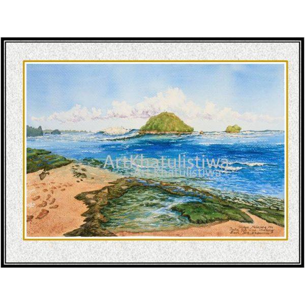 jual lukisan surabaya jawa timur indonesia pantai gua cina 2016-1
