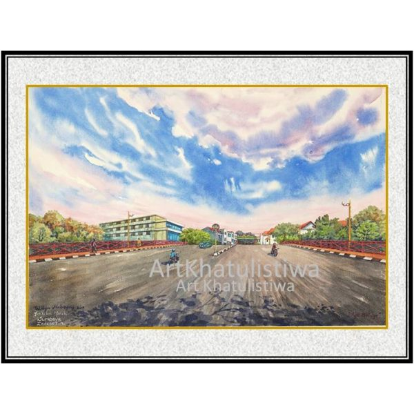 jual lukisan surabaya jembatan merah 5006-1
