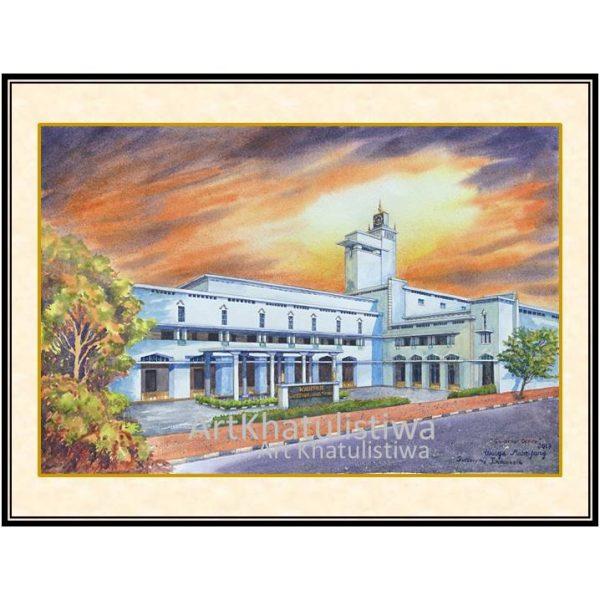 jual lukisan surabaya kantor gubernur jatim 5004-1