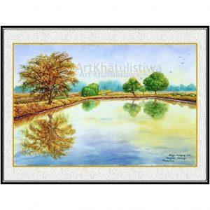 jual lukisan surabaya mangrove 1006-1-1