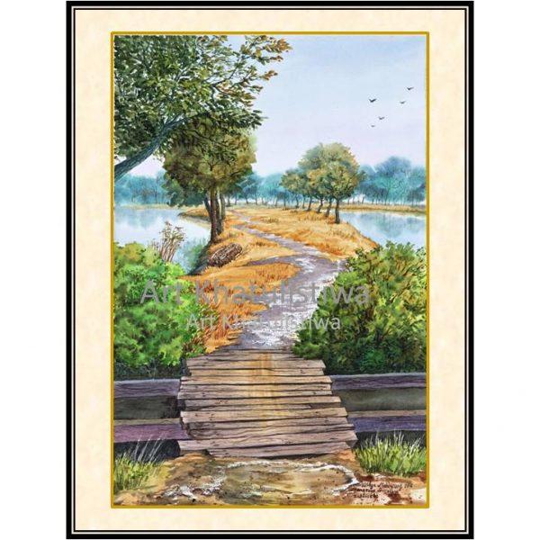 jual lukisan surabaya mangrove 1007-1