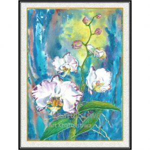 lukisan bunga minimalis 4008-1