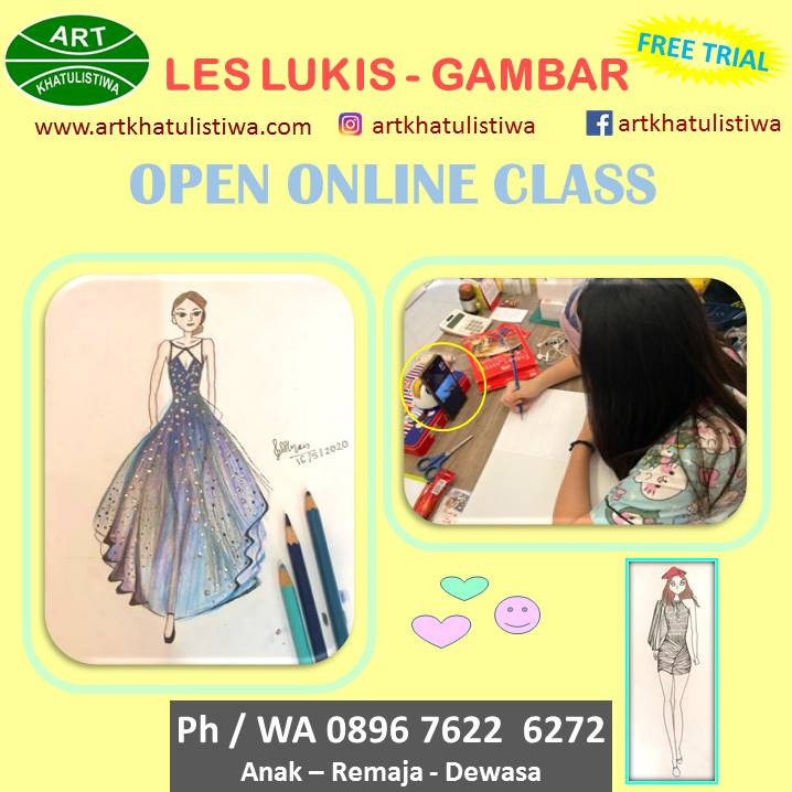 BELAJAR FASHION DESIGN LES ONLINE 12